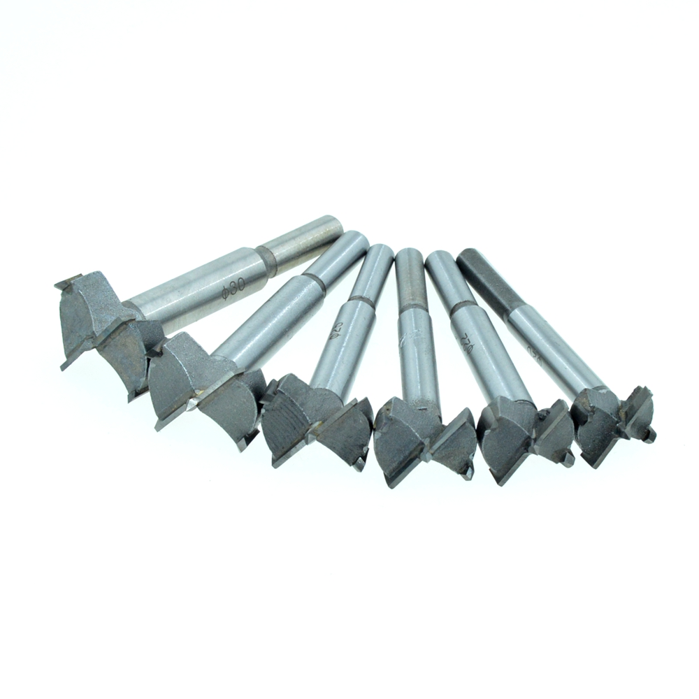 6PCS/One Set (20mm-30mm) Cutting Diameter Hinge Boring Drill Bit Woodworking Hole Saw Wood Cutter Silver Tone 38mm 100mm diameter hinge boring bit woodworking silver tone round shank wood drilling forstner carbide tip cutting wood tool