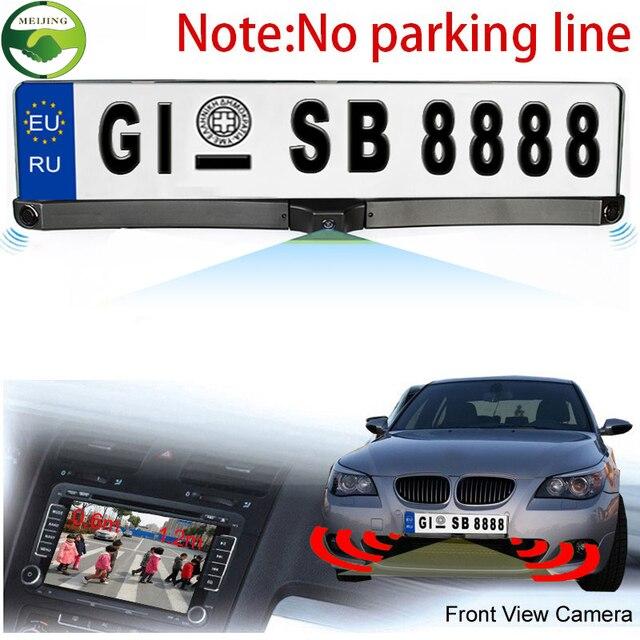 Высокое качество 170 европейский автомобиль номерного знака рамка автореверса заднего вида камеры с двумя датчики парковки реверсивный радар