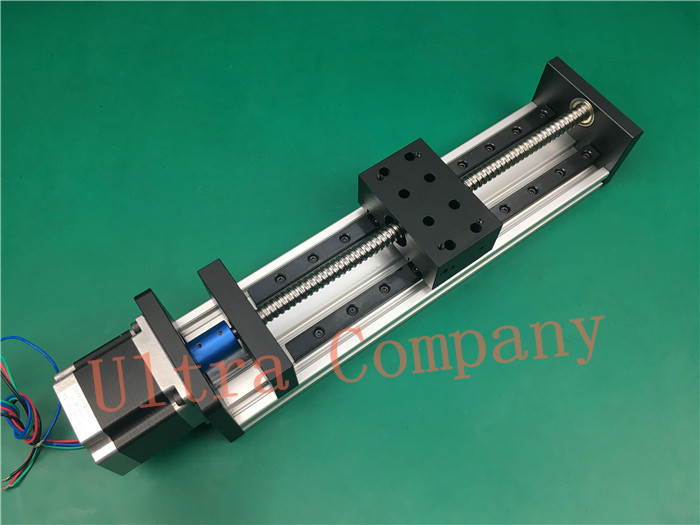High Precision GX80*50 Ballscrew 1204 1200mm Effective Travel+ Nema 23 Stepper Motor CNC Stage Linear Motion Moulde Linear high precision gx80 50 ballscrew 1204 1300mm effective travel nema 23 stepper motor cnc stage linear motion moulde linear