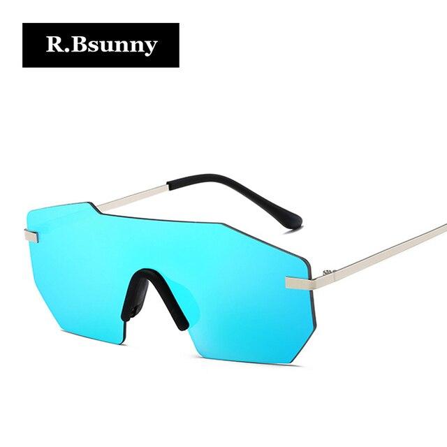 R.Bsunny Polygon borderless Fashion Big frame sunglasses Square ...