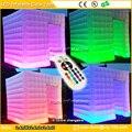 Envío gratis portable inflable fotomatón inflable photo stand tienda de caja de luz LED para la venta LED carpa cubo inflable
