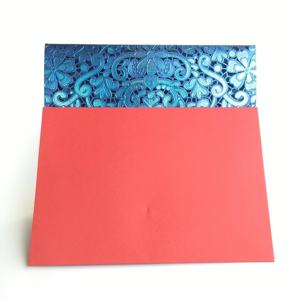 2018 Wedding Invitation Cards Rose Laser Cut Red Pink Navy Blue Gold ...