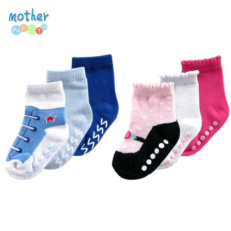 3 Pairs lot Luvable Friends Newborn Baby Girls Boys Socks