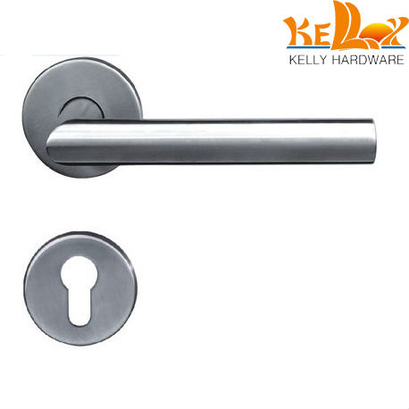 Stainless Steel 304 Dia 19mm Tube L Shape Lever Handle