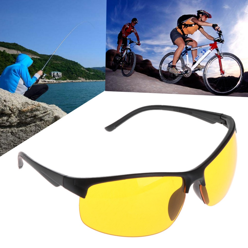 Óculos de visão noturna pesca ciclismo ao ar livre óculos proteção unisex uv400