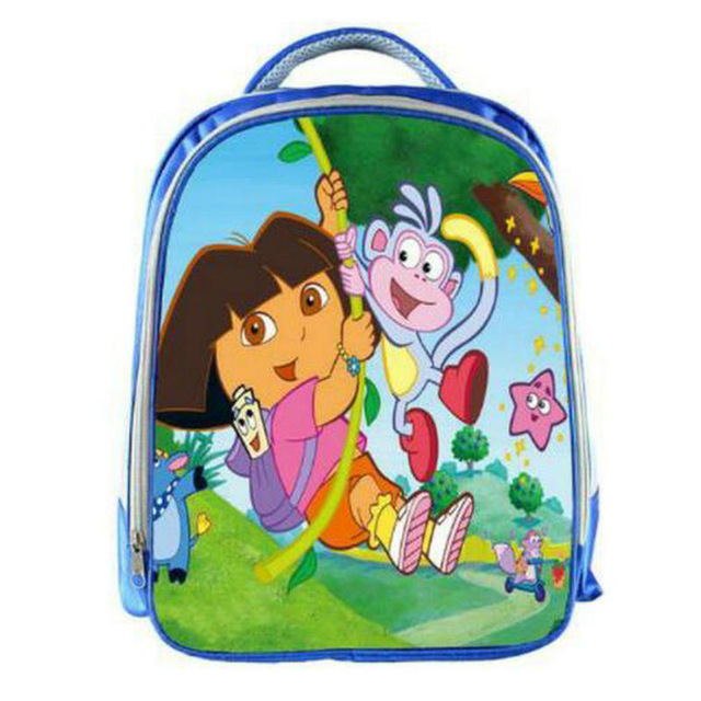13 Inch Children School Bags 3D Cartoon Baby Bag Dora Schoolbag Cute Student Bagpack Girl Kindergarten Book Bag Mochila Infantil
