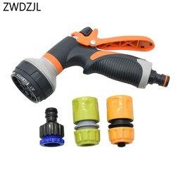 Pulverizador do jardim gramado aspersão pistola de lavagem carro bocal irrigação ajustável alta pressão potência rega automática kit 1 conjunto