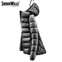 skinnwille 2018 fashion high quality 90 white duck down coat women winter down jacket winter coat women womens winter jackets(China)