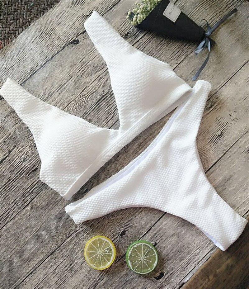 2017 Bikinis Frauen Feste Badeanzug Sexy Halter Bandage Micro Bikini Set Low Waist Strand Bademode Weiblichen Badeanzug Dünne Billige Schwimmen