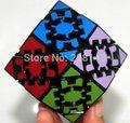 Engrenagem Lanlan Dodecaedro Rômbico 12 lados Quadrilátero Twisty Enigma Magic Cube Preto Crianças Educacionais Frete Grátis