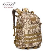 Aosbos 3D outdoor military tactical backpack camping rucksack nylon sport bags for hunting hiking trekking sports