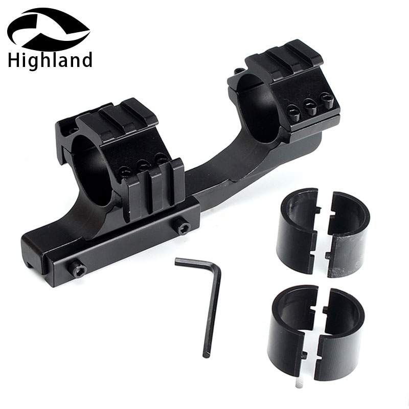 Tactical Hunting 25.4/30mm Offset Rifle Scope 11mm Dovetail Rings Mount With Extra Picatinny Weaver Rail