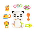 Cute 8 Pieces Baby Toys Rattle and Teether Toy Play Set Non-toxic Environmental Infant Teething Toys Baby Rattle