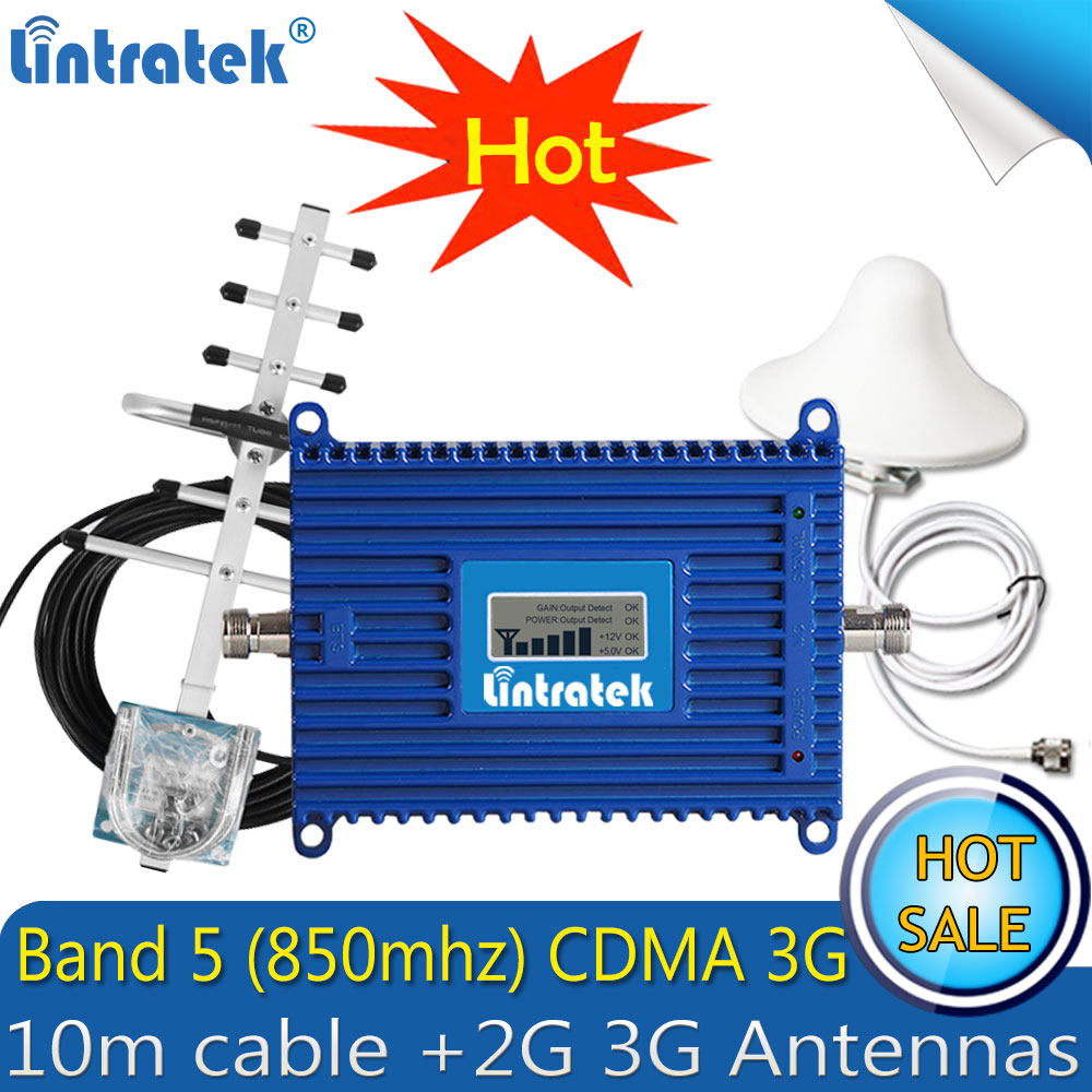 Lintratek GSM CDMA 850Mhz 3G Signal Booster Gain70dB CDMA Signal Repeater Mobile Phone Signal Amplifier with LCD DisplayLintratek GSM CDMA 850Mhz 3G Signal Booster Gain70dB CDMA Signal Repeater Mobile Phone Signal Amplifier with LCD Display