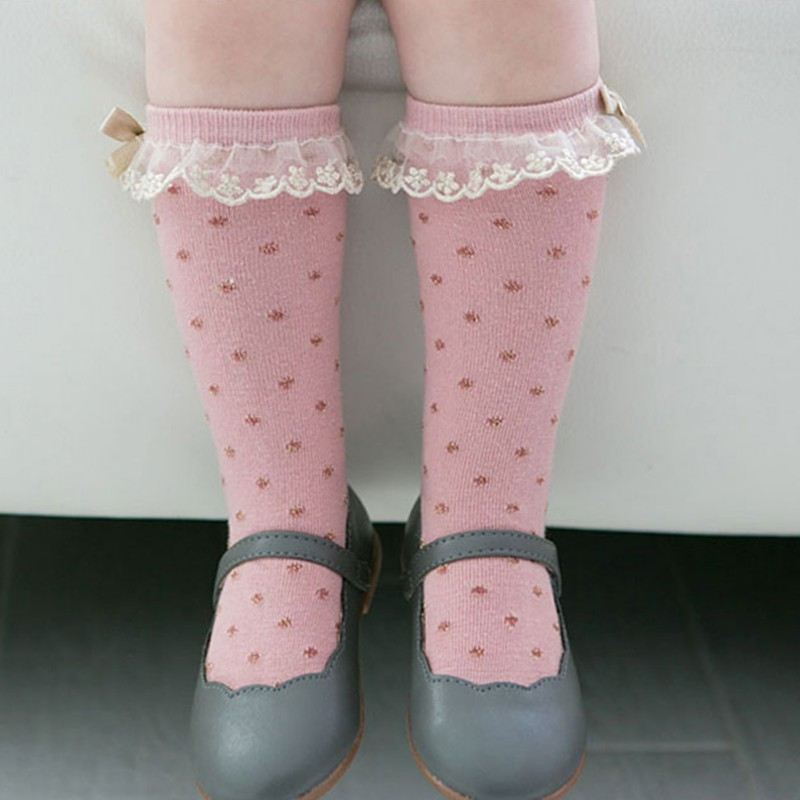 Bow Tie Sock Kids Baby Girls Polka Dot Socks Lovely Autumn Spring Sock For Children Girl