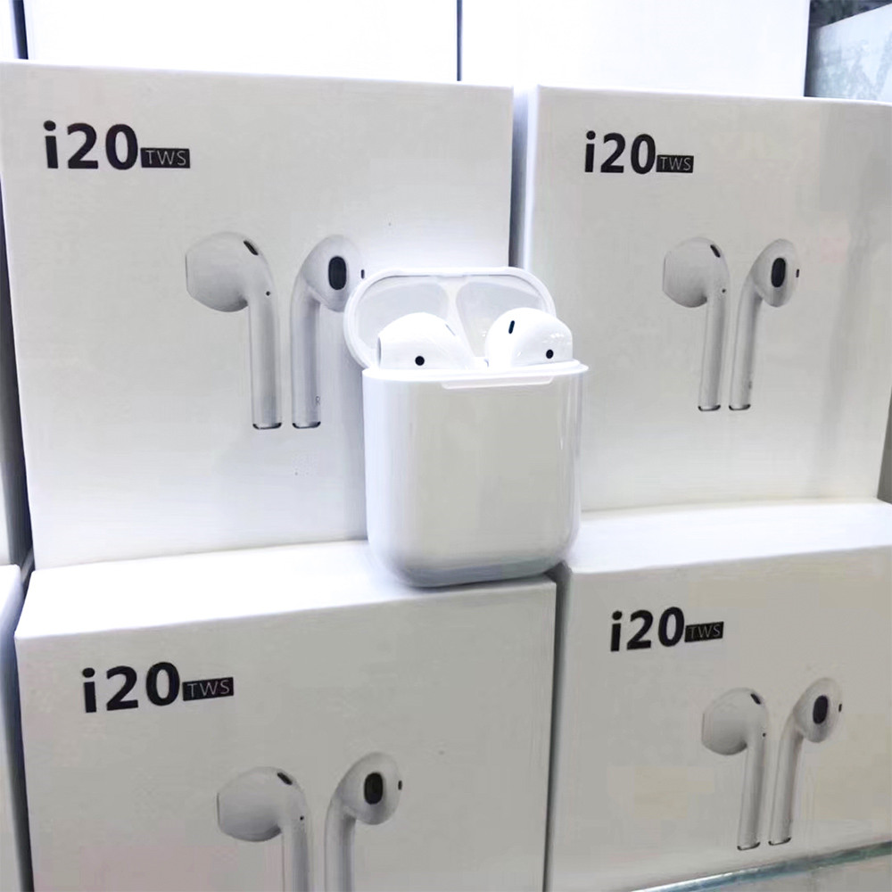 i20 <font><b>tws</b></font> wireless earphone Bluetooth 5.0 touch control headset 3D stereo sport earbuds with charging case pk i16 i12 i17 i11 <font><b>i14</b></font> image