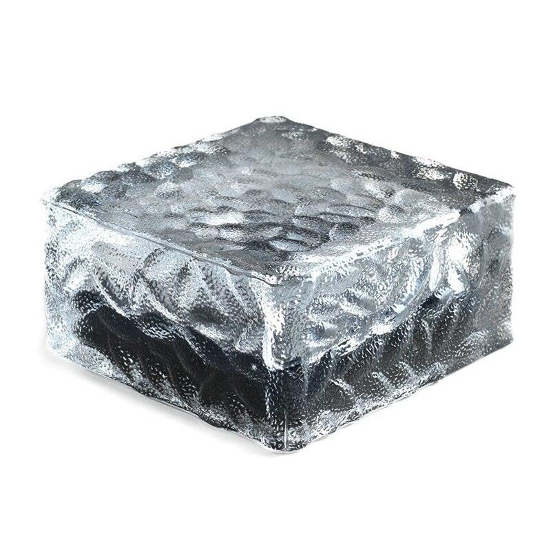 tijolo de vidro paver jardim luz 1 unidade 4 led gelo quadrado rochas a prova dwaterproof