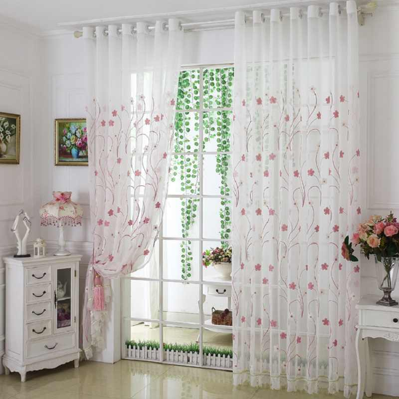 Fashion design modern transparent tulle curtains window treatments living  room children bedroom colorful Sheer curtain