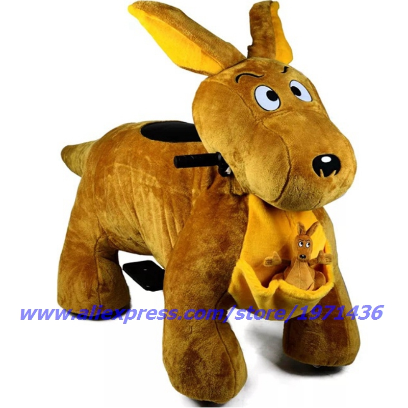 Rabbit Kiddie Rides Battery Coin Operated Plush Animal Ride On Toys