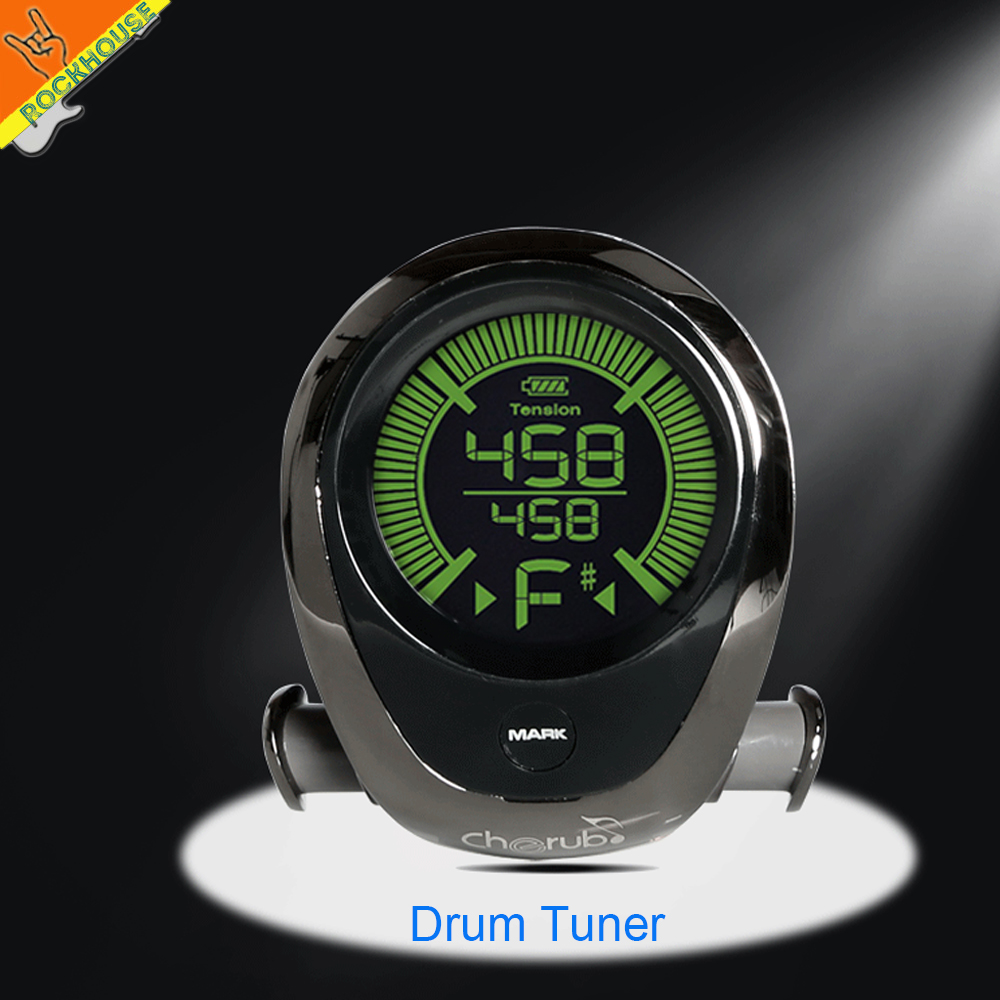 Cherub Drum Tuner Jazz Drum kits tuner Snare Drum Tuning Built-in Rechargeable Battery Sensitive Metal Shell Free Shipping cherub dt 10 drum tuner accurate built in rechargeable battery mic pick up for drum set kit
