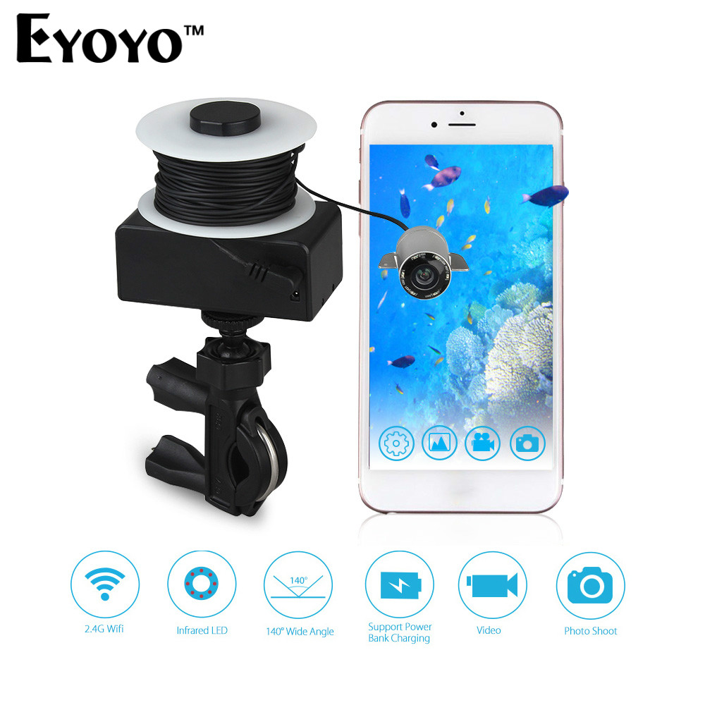 Eyoyo WIFI Wireless 20M Underwater Fishing Camera Portable Fish Finder 720P Video Recorder IR LED Spring Ice Fishing for Lakers баскетбольную форму lakers