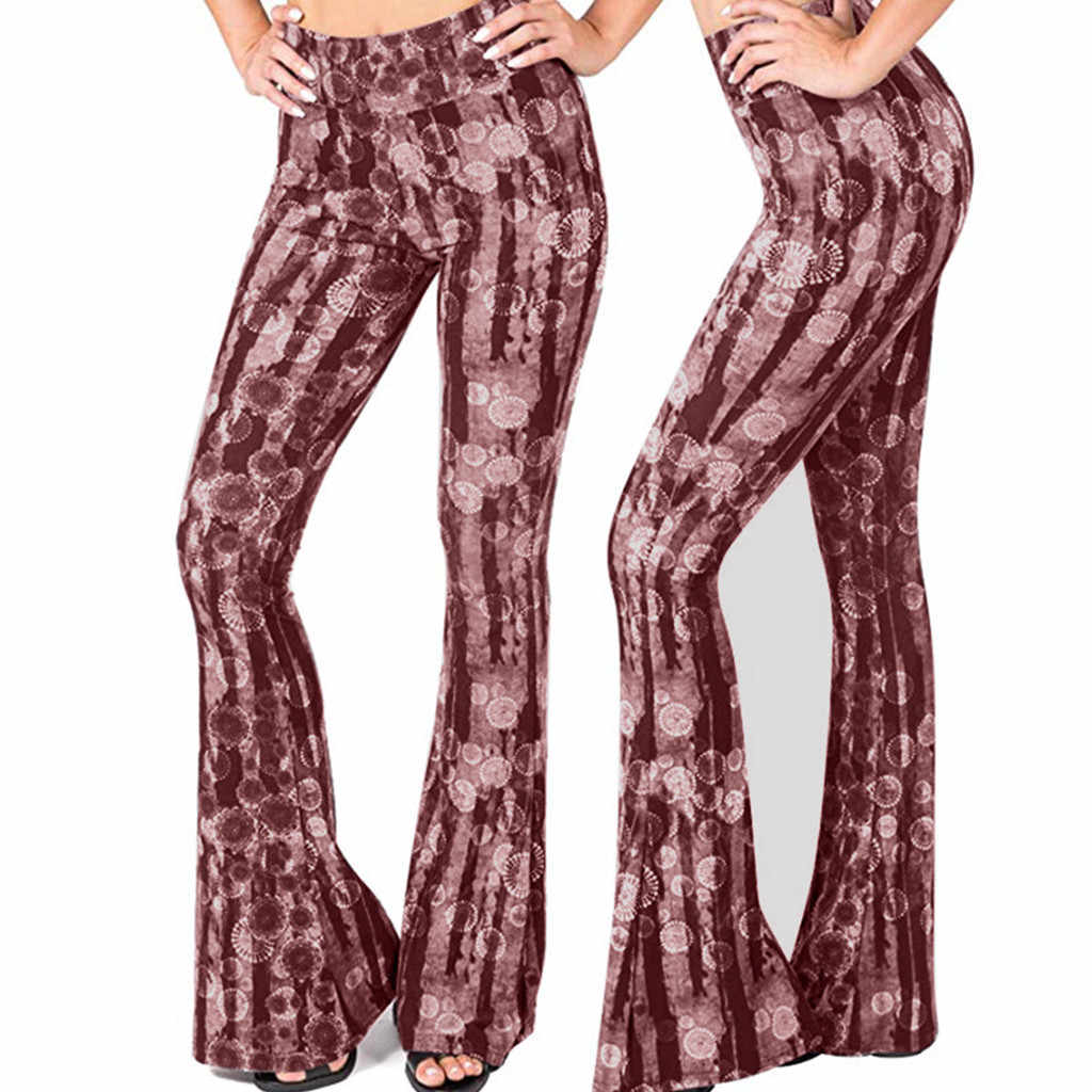 Feitong pantolon kadın çizme kesim pantolon pantolon kadın çan alt combinaison pantalon femme elegante pantalones de mujer 5 #4