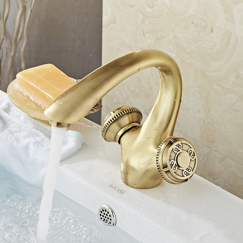 Free Shipping Brass Bathroom Faucet Vessel Sink Basin faucets Mixer Tap Cold Hot Water Taps ORB Black Double Handle Wholesale beelee bl8121 cold hot water copper basin faucet for bathroom single handle sink wash basin tap water tap free shipping