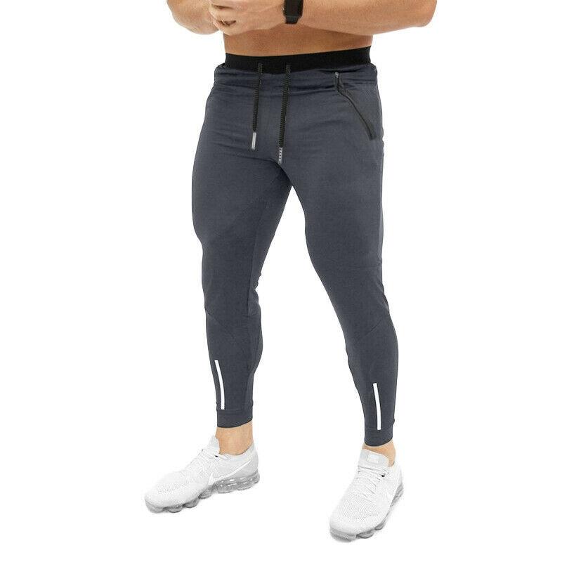 Hirigin Men Slim Fit Urban Straight Leg Sport Gym Skinny Jogging Joggers Pants Trousers