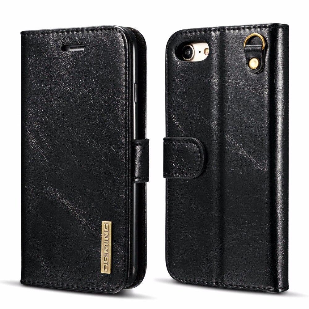Флип кожаный чехол для iPhone 7 дело Luxury автомобильный держатель карты слотов натуральная кожа чехол для iPhone 7 Plus телефон крышка