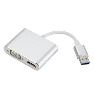 Image 5 - タイプ c hdmi/vga オーディオビデオケーブルのコンバーターへのラップトップコンピュータ 2 で 1 usb 3.0 USB2.0 hdmi アダプタ 4 18k hd 1080 p