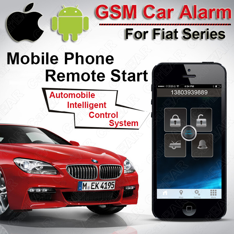 ios android gps gsm car alarm for fiat push button start. Black Bedroom Furniture Sets. Home Design Ideas