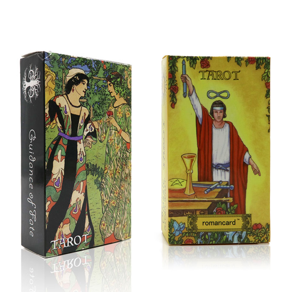 2018 radiant rider wait tarot cards Full English factory made smith tarot deck with colorful box, cards game, board game silver side tarot board game cards game full english edition blue eye tarot board game for family friends