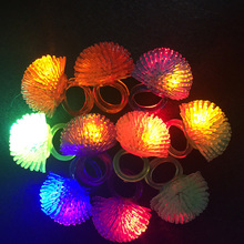 50pcs/lot Led finger lights Glowing Dazzle Colour Laser Emitting Lamps led finger ring for wedding and party gift kids toys