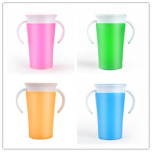 Infant 360 Degrees Rotated Training Drink Cup With Double Handle Flip lid Leakproof Toddler Safe Spill Feeding Cup(China)