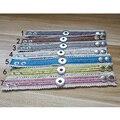 18mm New Bracelet Jewelry DIY Fabrics Bracelet Fit Snap 18-20mm Button Beige Lace 22x2cm