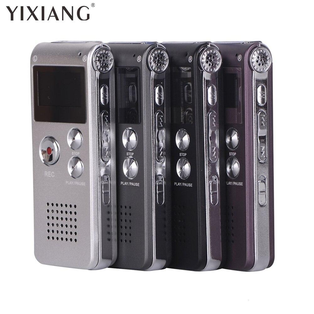 Yixiang Высокое качество цифровой диктофон 8 ГБ Mini USB Flash Цифровой Аудио Голос Запись 650Hr Диктофон WAV MP3-плееры ...