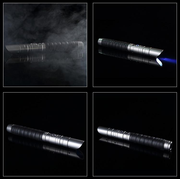 Durable Metal LED Lightsaber with Sound & Vibration 8