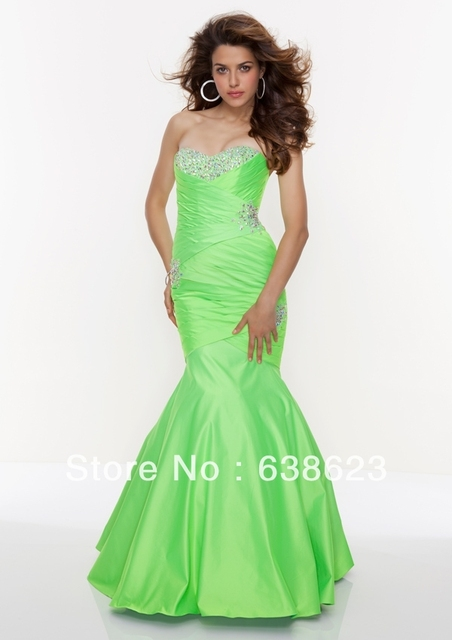 AP027 Fashion New Fluorescence Color Mermaid Beaded Ebay Prom Dress ... 5a4fe56a2eaa