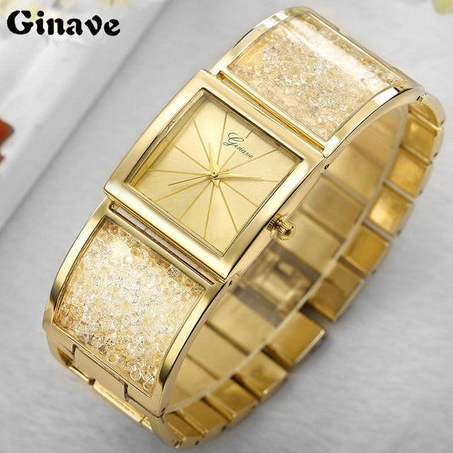 Famous Brand Women Watches Fashion Diamond Bracelet Watches Lady Dress Wristwatc