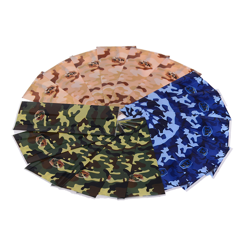 5Pcs/lot PVC 18650 Battery Wrapper Sticker Camouflage Style Tube Wrap Shrink Insulator Protected Cover Skin Decoration
