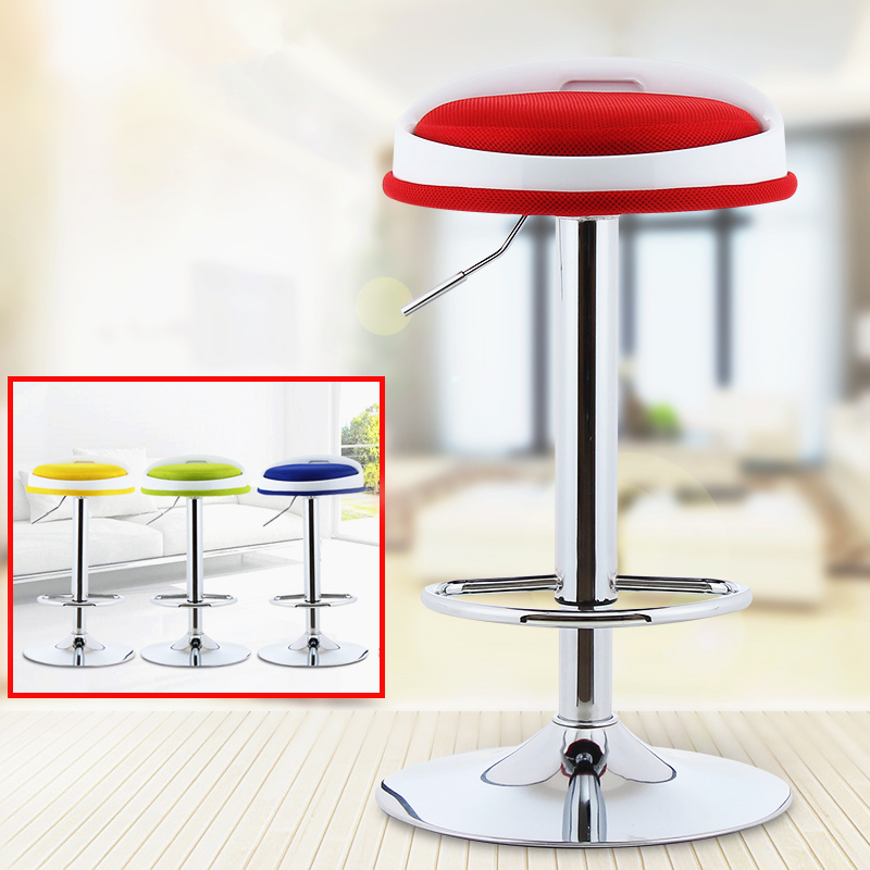 Promotion simple lifting rotation bar chair make up high foot stool in front of the cashier backrest chair  free shipping lift the rotating bar chair simple laboratory work stool great of beauty barber