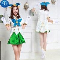 MANLUYUNXIAO Women Costume Game Character LOL Magic Girl LuLu Costume Halloween Cosplay Costume For Women Hot