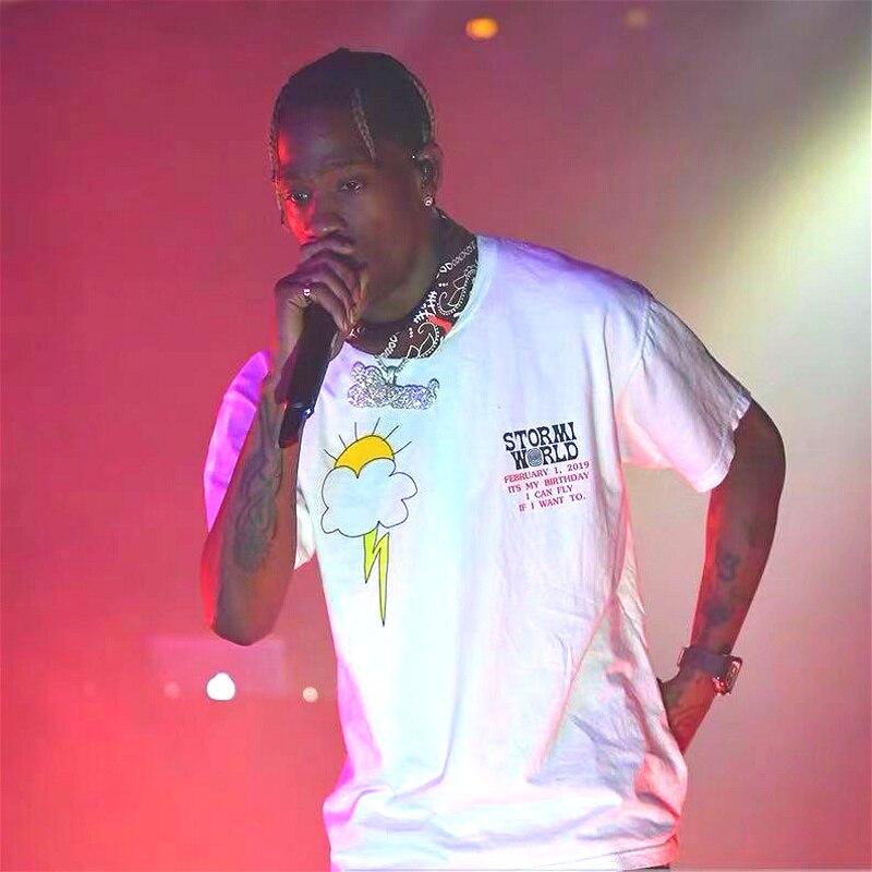 Travis Scott  Astroworld T Shirt Men Women Billie Eilish T-shirt Streetwear Kanye ASTROWORLD TRAVIS SCOTT Tshirt
