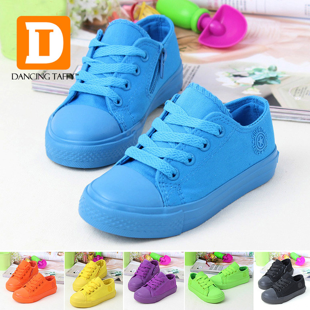 Solid Kids Shoes 6 Colors Children Shoes Boys Girls 2017 Brand Fashion Canvas fabric Sneakers Casual Board Children Sneakers