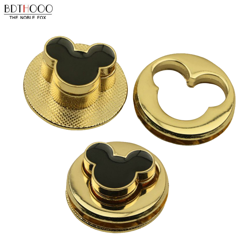 1Pcs Metal Clasp Round Turn Lock Parts Twist Lock For DIY Bag Purse Hardware Closure Bag Accessories