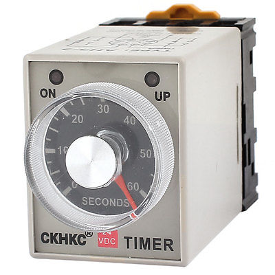 Adjustable Delay Time DPDT 8 Pin 0-60 Seconds Timer Relay DC24V/DC12V/AC110V/AC220V 2A AH3-3 3s ah3 3 power on delay timer time relay 36vac plastic housing 8 pin