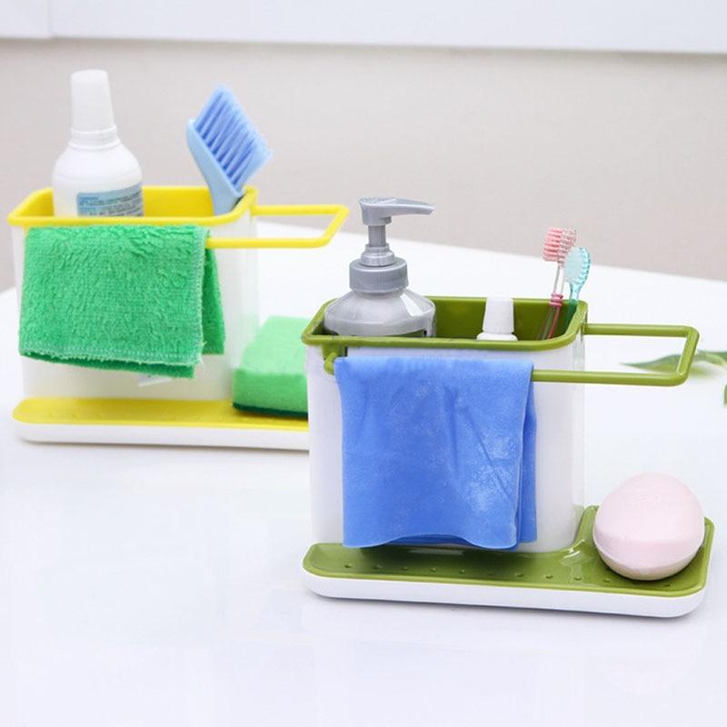 1pcs Plastic Multifunction Racks Kitchen Sink Utensils Holders ...