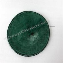 High Quality Folding Round Metal Frame Nylon Mesh Crab Fish Net Fishing Landing Net Green