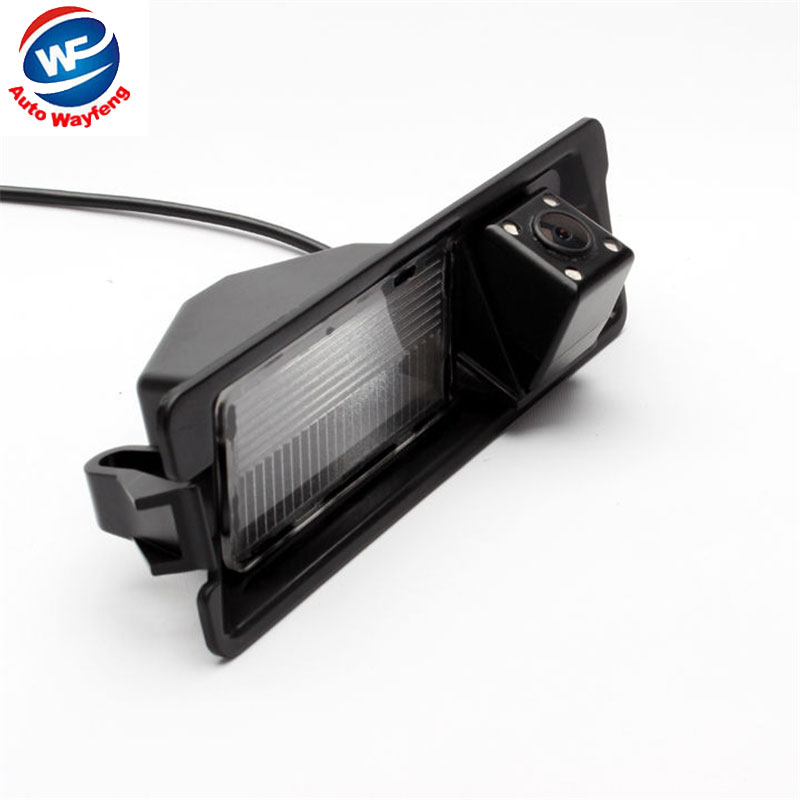 CCD HD Night vision 4 LEDS Special Car Rearview Rear View Reverse backup Camera For Nissan March Renault Logan Renault Sandero W
