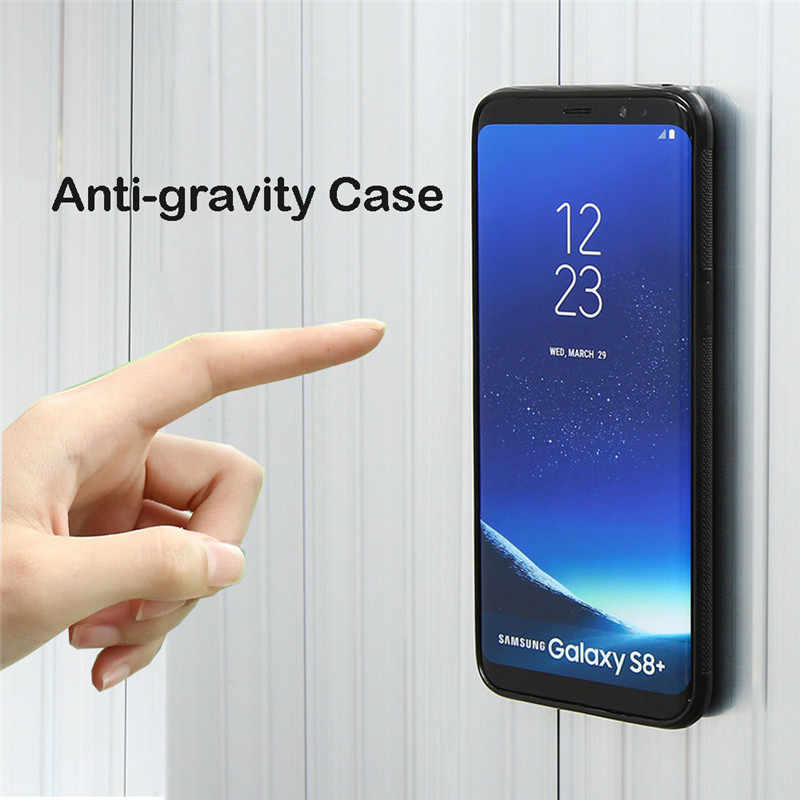 Anti Gravitasi untuk Samsung Galaxy Note 8 9 10 Plus S8 S9 S10 Plus S10E Cover Antigravity Nano lengket Magic Menyerap Case